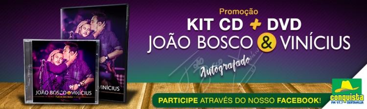 Kit CD + DVD João Bosco & Vinícius Autografado